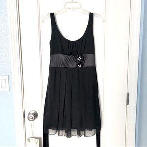 XOXO Black Shimmer Dress